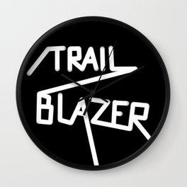 Trailblazer B&W Wall Clock