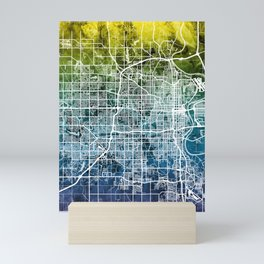 Omaha Nebraska City Map Mini Art Print