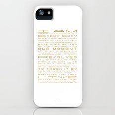 Jonathan Edwards Resolutions iPhone (5, 5s) Slim Case