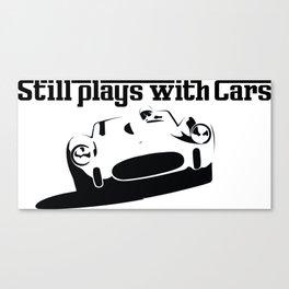 Still plays with cars Italian Canvas Print