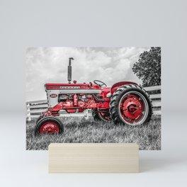 IH 240 Side View Selective Red Farmall Tractor Mini Art Print