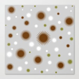 Star Burst Galaxy - Grey brown Green White Canvas Print