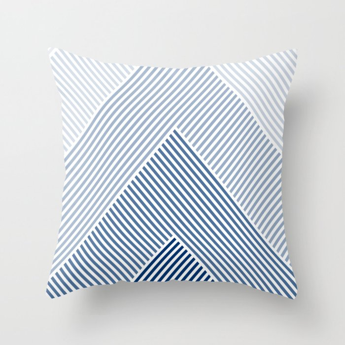 Shades of Blue Abstract geometric pattern Deko-Kissen