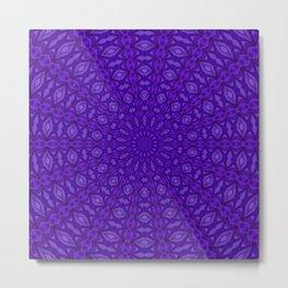 Ultra Violet and Purple Satin Harmony Metal Print