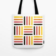 Pastel striped square pattern Tote Bag