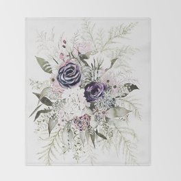 Purple Bouquet Throw Blanket