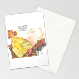 Farewell letter from a doomed woman Stationery Cards