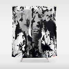 URBAN ELEPHANT INK SPLASH Shower Curtain