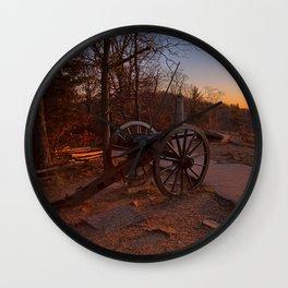 Gettysburg Sunset Cannon Wall Clock