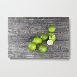 Lime mint group Metal Print