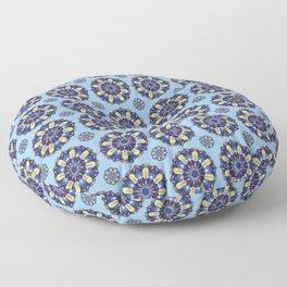 Blue Spanish tile Floor Pillow