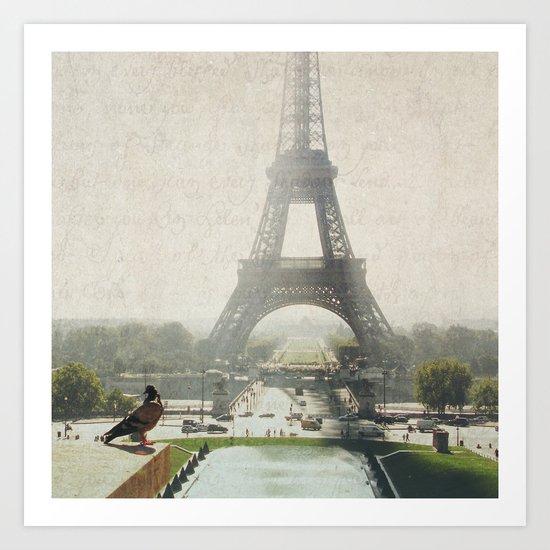 Letters From Trocadero - Paris Art Print