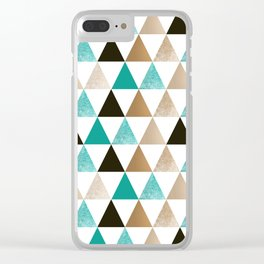 Geometric pattern with triangles. 2 Clear iPhone Case