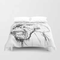 beast Duvet Covers featuring Beast by Luis C. Araujo