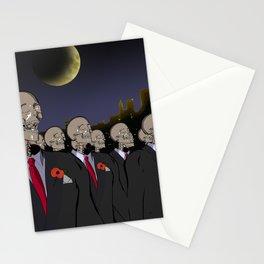 Skeletons remembrance Stationery Cards