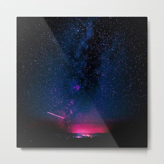 Electric Desert Starry Night Metal Print