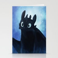 toothless Stationery Cards featuring Toothless by Liancary