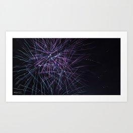 white sox fireworks Art Print