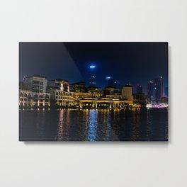 Dubaï, The Night Villas Metal Print