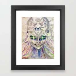 Lemurian Mermaid Queen Framed Art Print