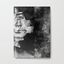 Warped Metal Print