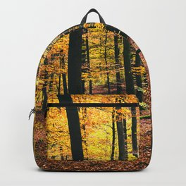 Yellow Orange Autumn Fall Forest Backpack