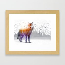 A Wilderness Within / Wolf Framed Art Print