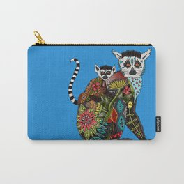 ring tailed lemur love blue Carry-All Pouch