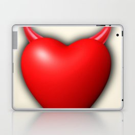 Heart Series Love Red Devil Horns Love Valentine Anniversary Birthday Romance Sexy Red Hearts Valent Laptop & iPad Skin