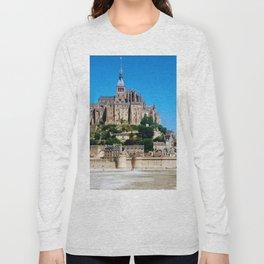 Castle Fortress- Le Mont Saint Michel Long Sleeve T-shirt