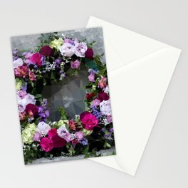 In Memoriam Low Poly Geometric Triangles Stationery Cards