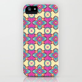 Lily Pulitzer Inspired Spanish Tiles Pattern iPhone Case