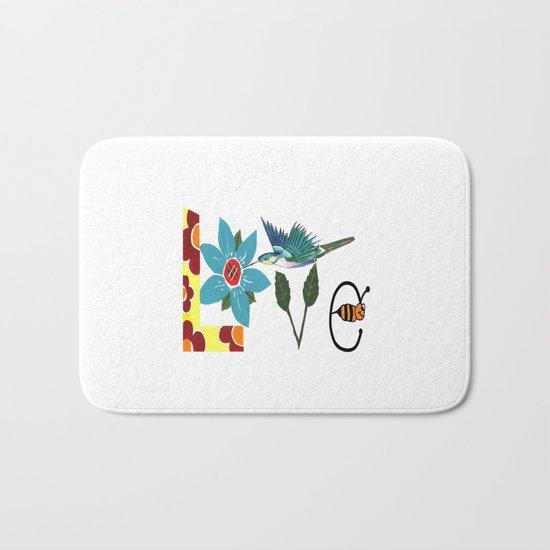L Is For Love Bath Mat