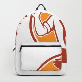 Urban Farmer Grab Hoe Circle Retro Backpack