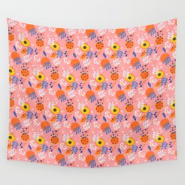 PEACH AND ORANGE PATTERN Wall Tapestry