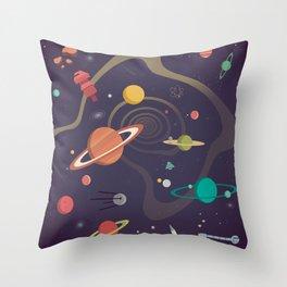 Cosmico 4 Throw Pillow