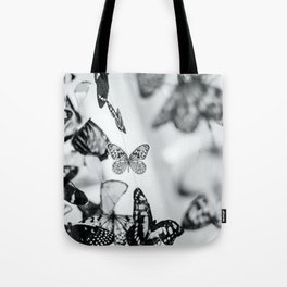 B&W Butterfly Tote Bag