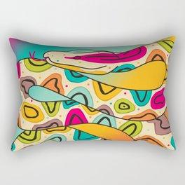 Colorful Snake Rectangular Pillow