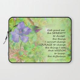 Serenity Prayer Vinca Glow Laptop Sleeve