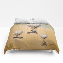 Steampunk Balloon Race Comforters