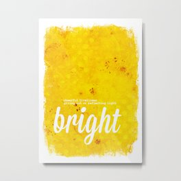 Bright Yellow - The Power of Color Metal Print