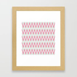 Zigzag pattern - blue and  pink Framed Art Print