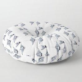 Manta ray devil fish Floor Pillow