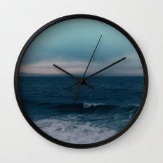 Blue California Ocean Wall Clock