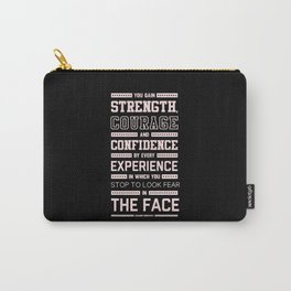 Lab No. 4 Strength Does Not Come Arnold Schwarzenegger Motivational Quote Carry-All Pouch