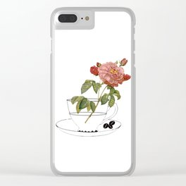 botanical coffee Clear iPhone Case
