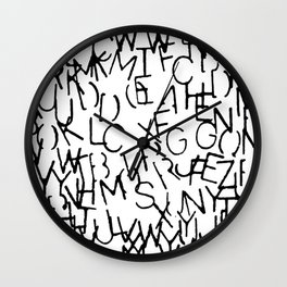 Stenciled Letters Wall Clock