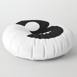 Number 3 (Black & White) Floor Pillow