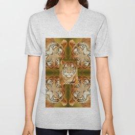 Bengal Tiger Pattern Unisex V-Neck