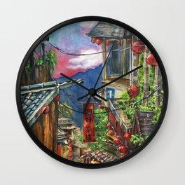 Jiufen Wall Clock